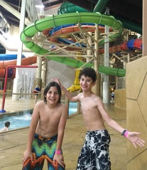 Great Wolf Lodge indoor water park. Photo credit: Gwen Kleist, Healthy TravelingMom.