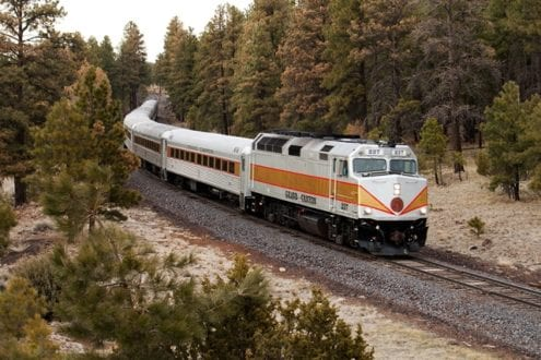 Ride the train from the hotel to the Grand Canyon. Photo credit: Grand Canyon Railroad.