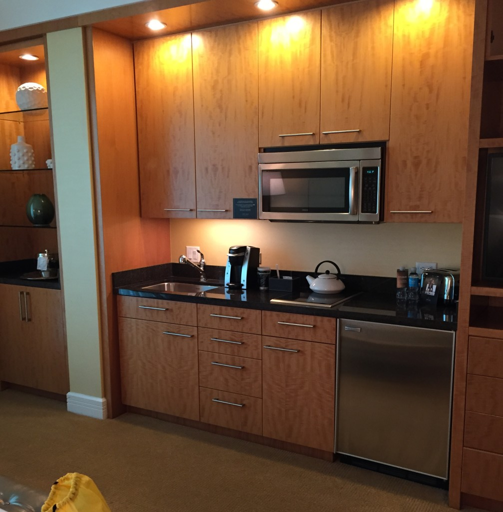 Kitchenette at the Trump Las vegas hotel