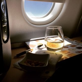 You never know what they're serving up in the air! / Photo Credit: Dana Zucker, Luxe TMOM