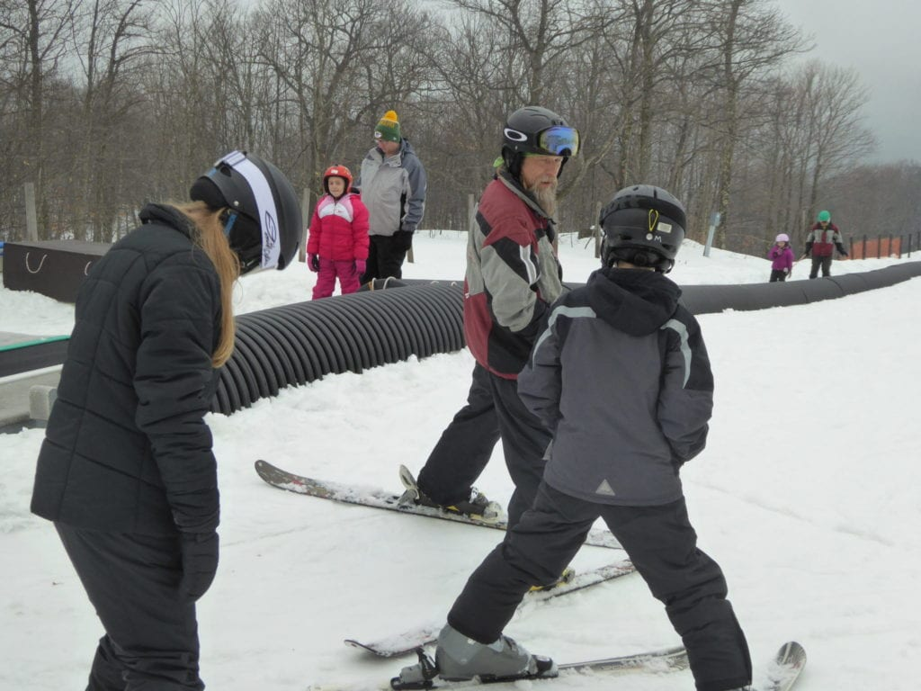 Photo by Jamie Bartosch/Suburban TravelingMom Our ski instructor, Brian, taught the kids how to ski in just one hour.