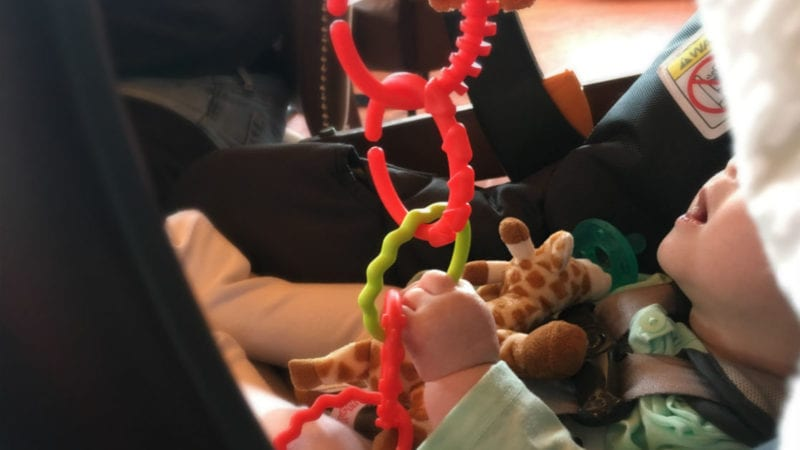 Toys that entertain and distract babies are essential for a road trip.