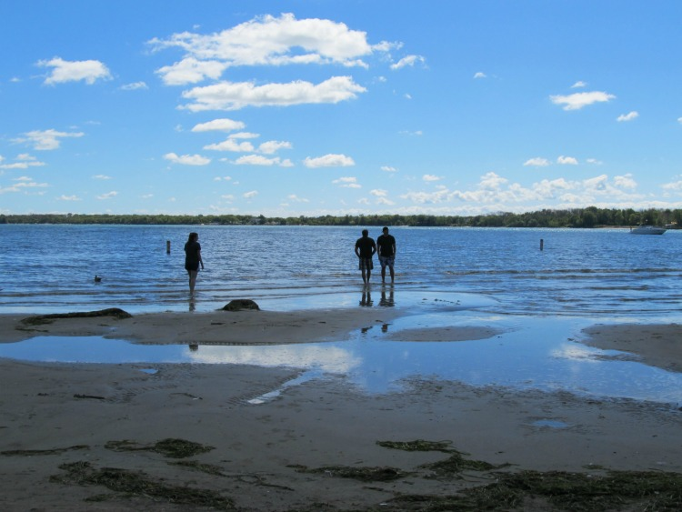 The beach at Kelleys Island State Park is a great place to sunbathe, swim or kayak.