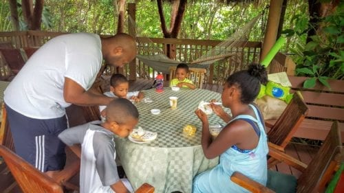Free breakfast is one of the complimentary benefits that make Crane's Beach House one of the most family friendly hotels in South Florida.