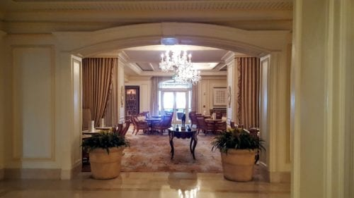 The lobby is spectacularly impressive at Eau Palm Beach.