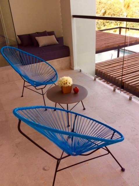 All-inclusive suites feature numerous balcony features at Finbest Playa Mujeres. Photo by Christine Tibbetts, Cultural Heritage TravelingMom.