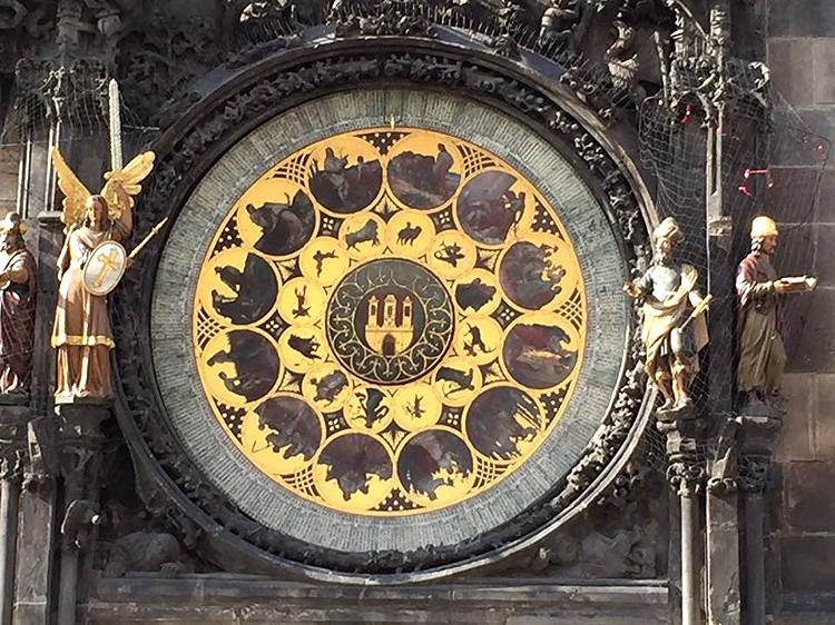 Astrological clock in Old Town Square in Prague