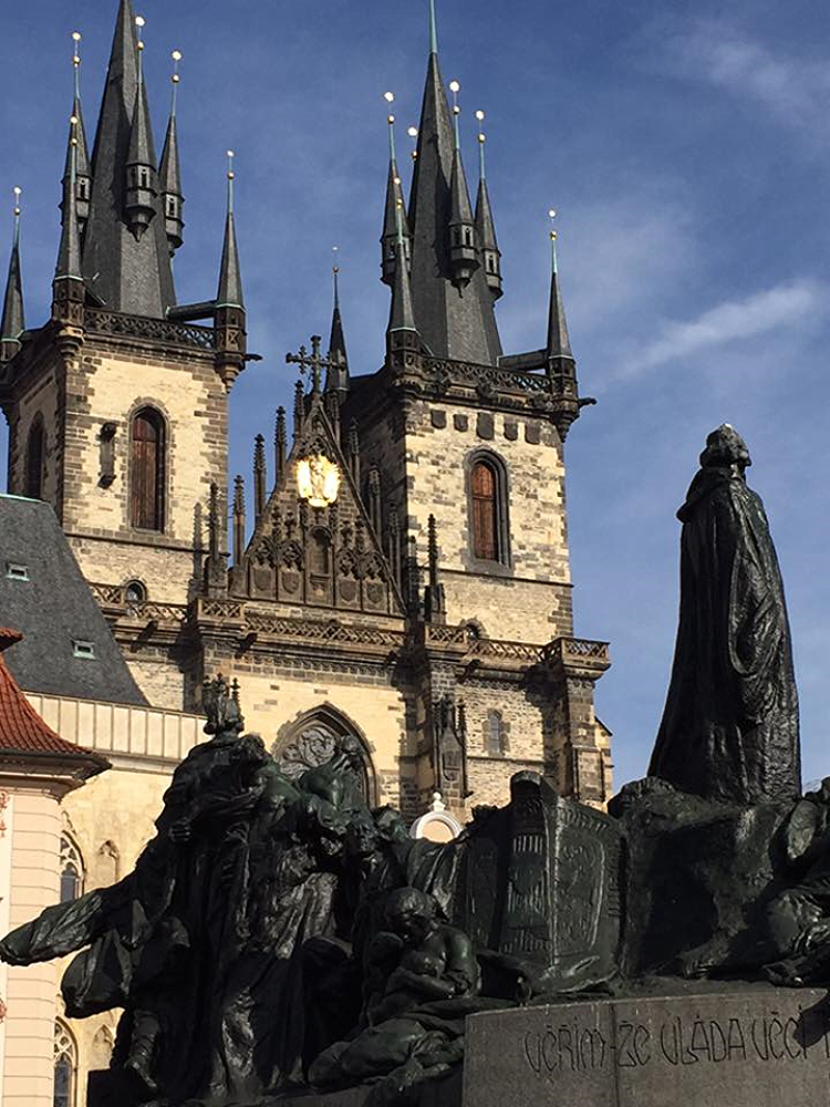 Church in Old Town Square in Prague