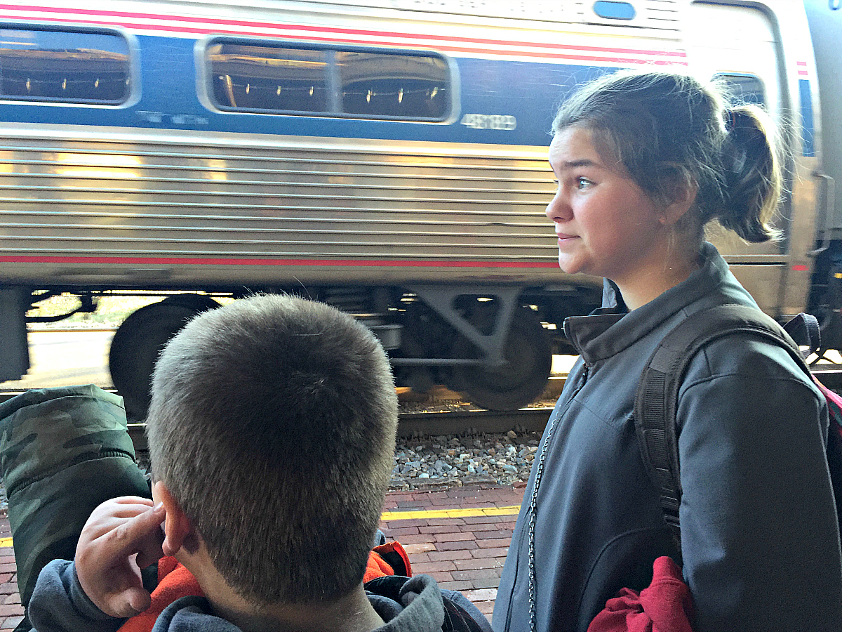 Why you should take your family on an Amtrak train travel adventure. Photo: Becky Davenport, Budget Traveling Mom