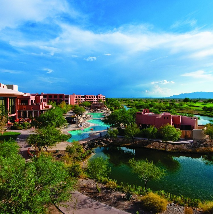 Bird's eye view of the resort. Photo courtesy of Sheraton Grand at Wild Horse Pass.
