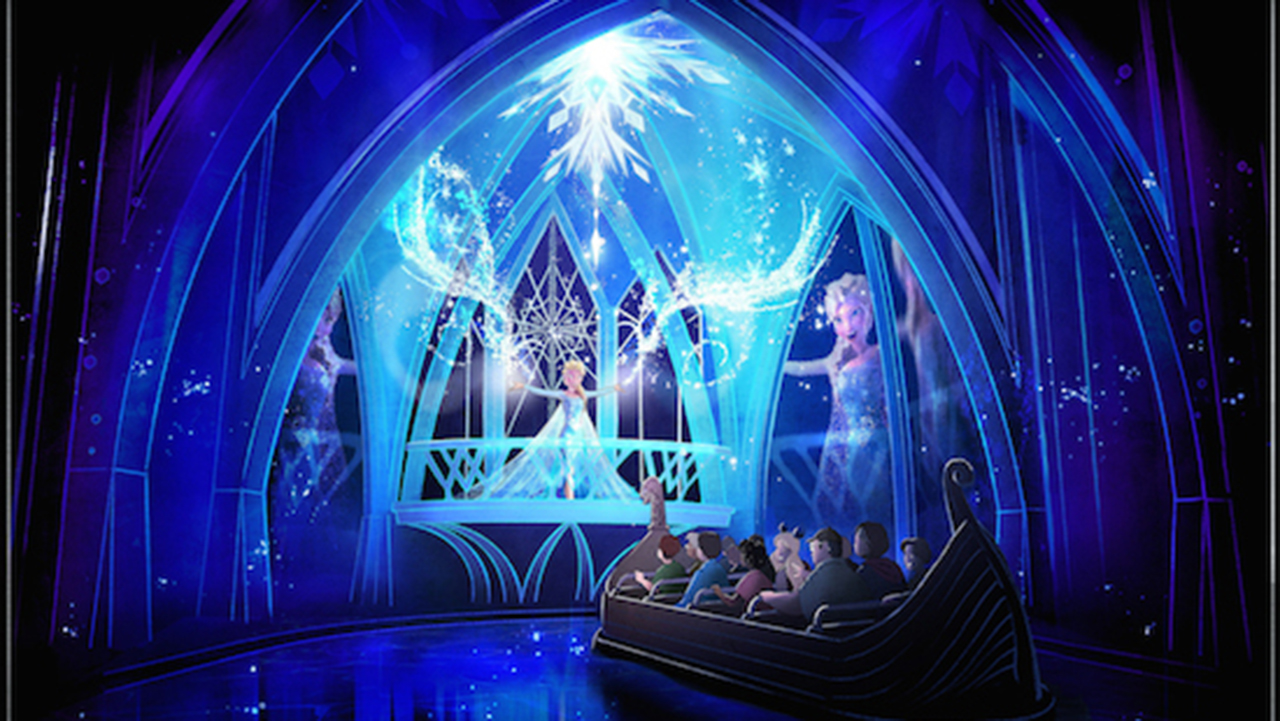 A rendering of the new Frozen Ever After Ride. Photo credit: Disney.