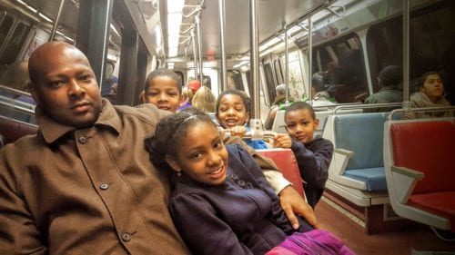 Riding the Metro is a must on a family friendly Washington DC trip.