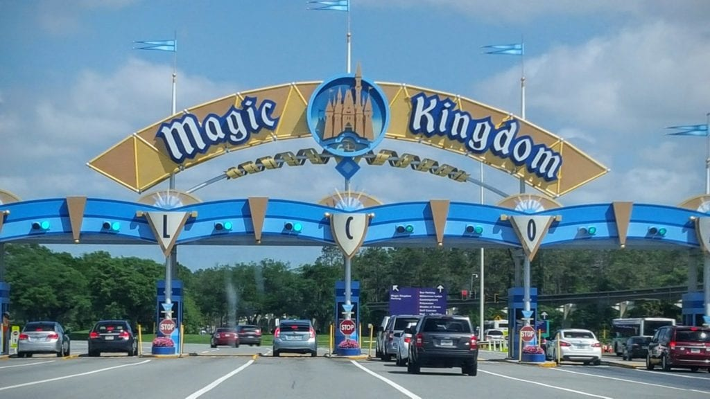 The welcome sign to Magic Kingdom always gives me a thrill.