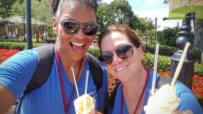 Try to ditch the family for a bit to experience some Disney World mom foods like Dole Whip with rum.