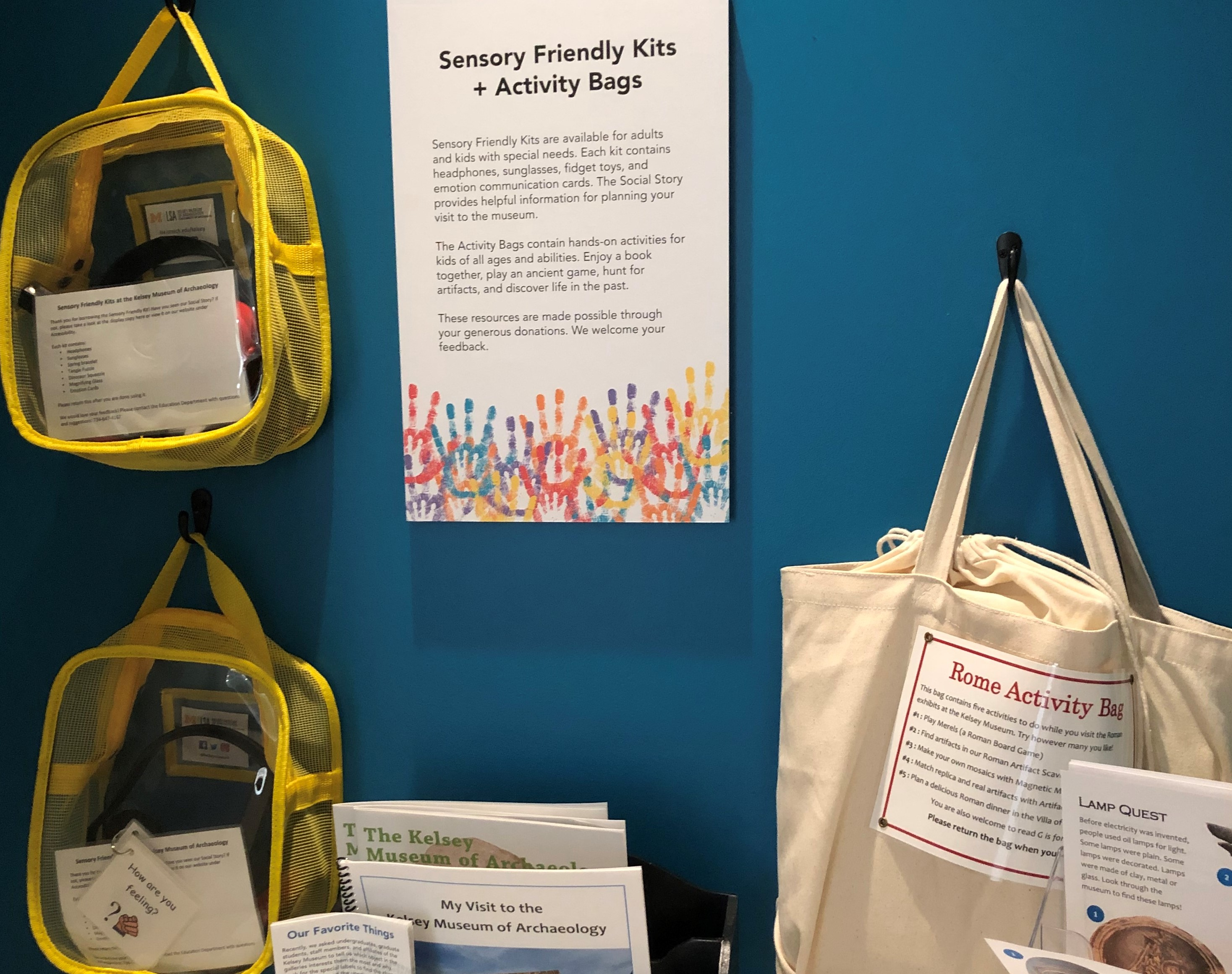 Sensory and Activity kits available at the U of M Kelsey Museum of Archaeology, one of many free things to do in Ann Arbor MI