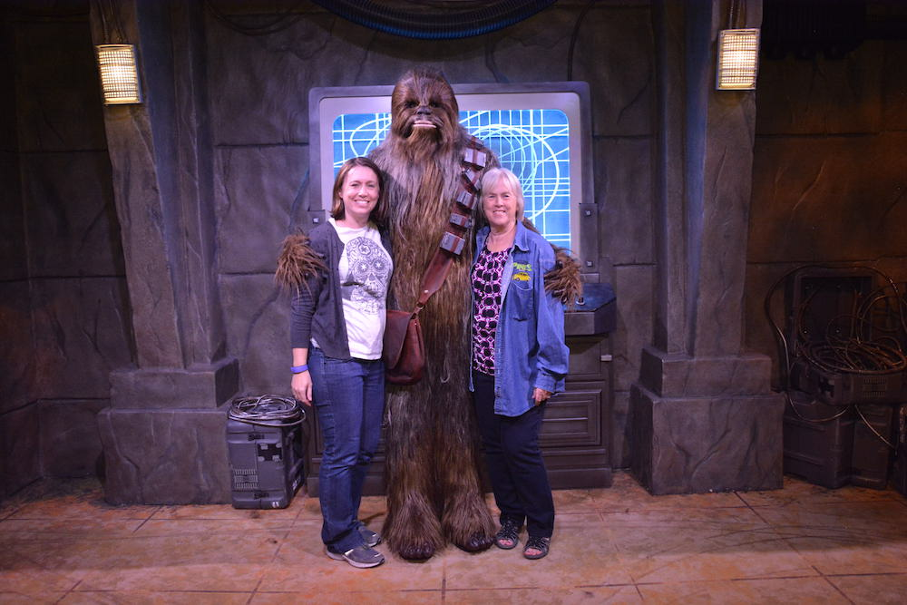 Chewbacca encounter at the Star Wars Launch Bay Photo credit: Karen Heffren / Desert TravelingMom