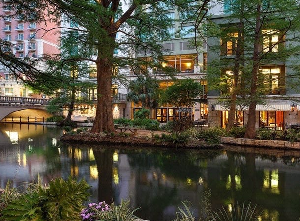 A $7 nightly amenity fee is charged. For strollering families, the River Walk has numerous bridges to navigate. Pack your smallest stroller for your trip. Valet parking is $36 a night with unlimited in/out. There are self-park garages nearby. Wi-Fi is complimentary. Hotel Review, luxury hotels on the Riverwalk,
