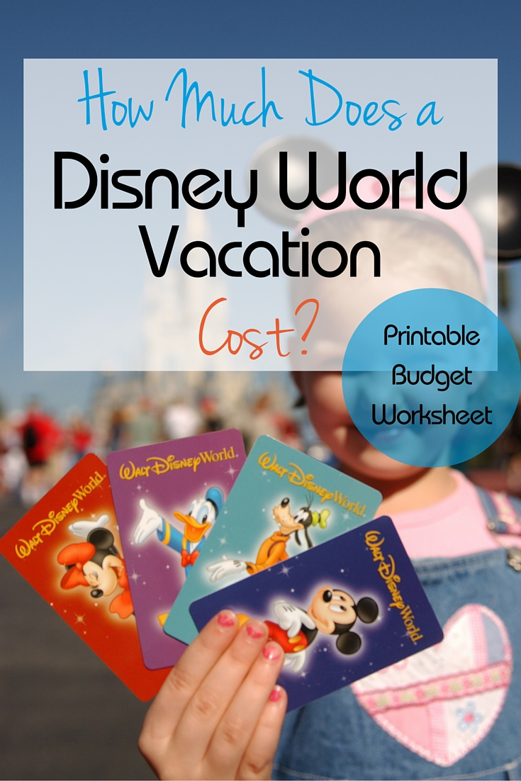 How much does it cost for a Walt Disney World vacation? Here you can find out what to budget plus use a free printable cost planning worksheet for your trip!