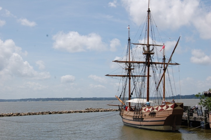 Tall Ships at Jamestown Settlement in Greater Williamsburg VA