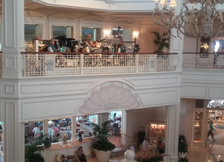 An orchestra plays every evening in the Grand Floridian lobby. Photo credit: Gwen Kleist, Healthy TravelingMom.