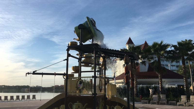 The Alice-in-Wonderland themed water play area is a must for littles. Walt Disney World Resort, Grand Floridian,