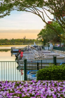 The Grand Floridian marina.