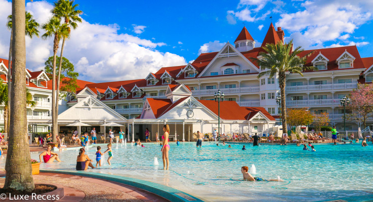The three pools at the Grand Floridian offer a variety of swimming and sun experiences.