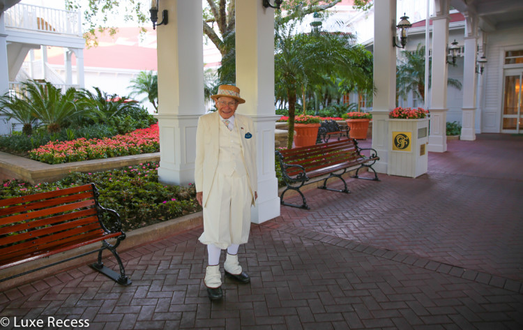 Richard, greeter at the Grand Floridian, ready to welcome you.