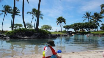 The Grand Hyatt Kauai is a kid-friendly resort for families traveling with a baby. Photo by Kristi Mehes.