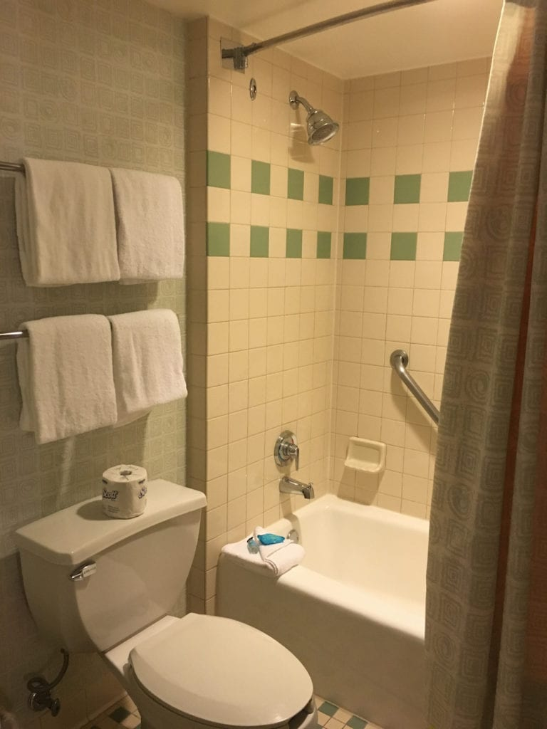 The Pop Century Resort bathroom is clean and well-maintained. Walt Disney World Resort,