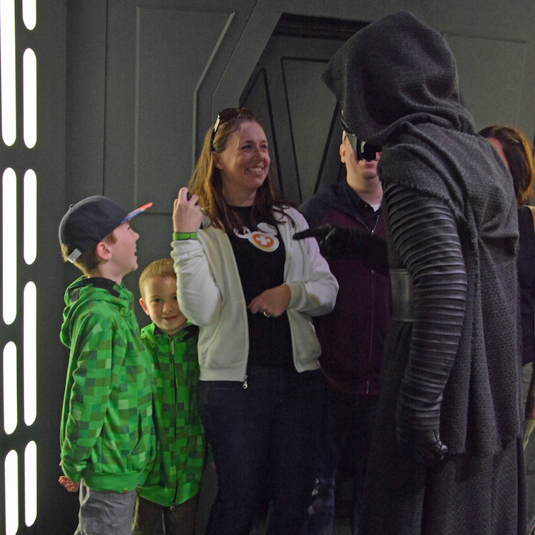 Kylo Ren encounter at the Star Wars Launch Bay Photo credit: Karen Heffren / Desert TravelingMom