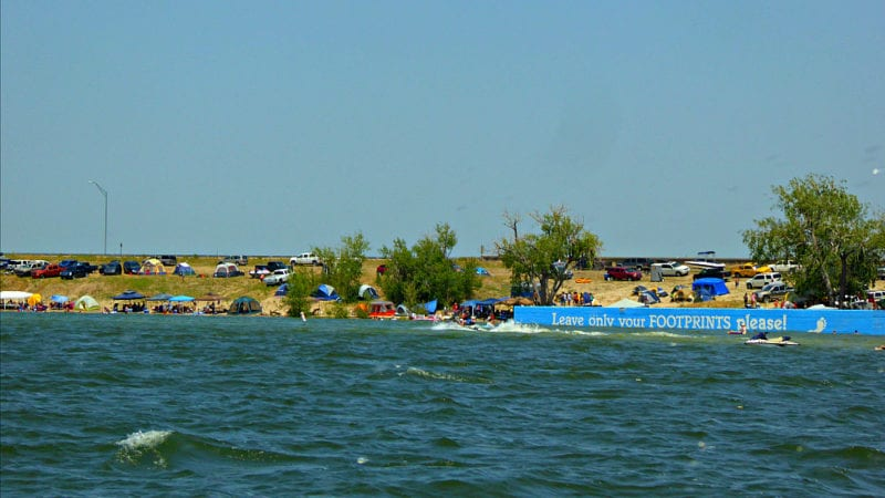White sand beaches, cool, deep waters, camping, and an abundance of family adventures at Lake McConaughy.