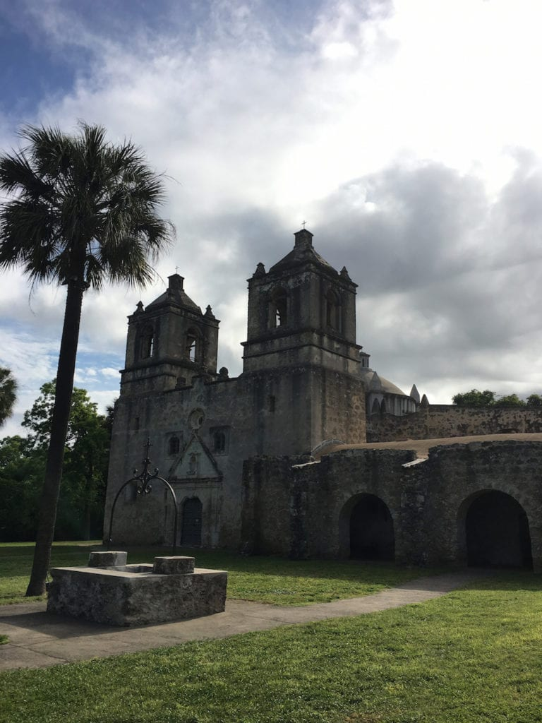 Mission Conception is the oldest unreported stone church in North America. San Antonio Missions, UNESCO World Hertiage Site, Texas,
