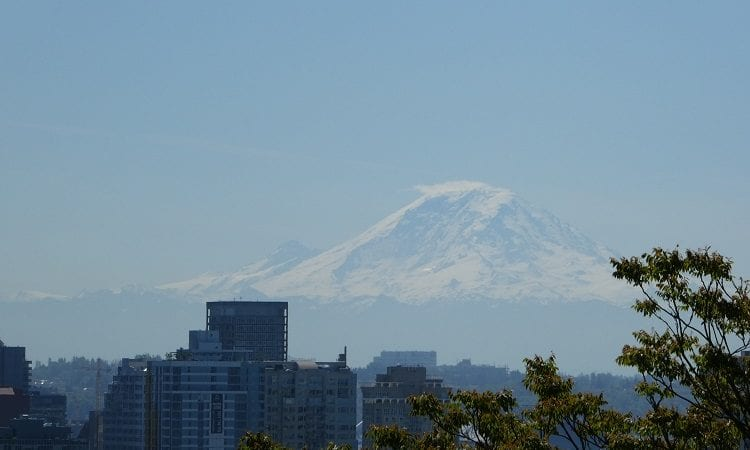 Mt. Rainier view from Seattle