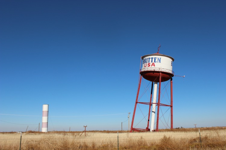 The Leaning Water Tower Roadside Attraction in Groom Texas