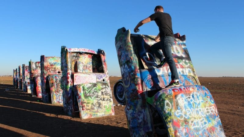 Visiting Roadside Attractions along Route 66 with Teens