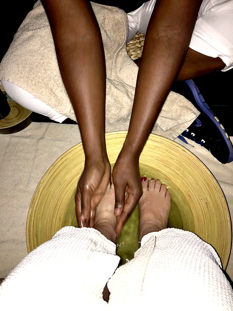 a spa treatment at Club Med Sandpiper Bay Resort