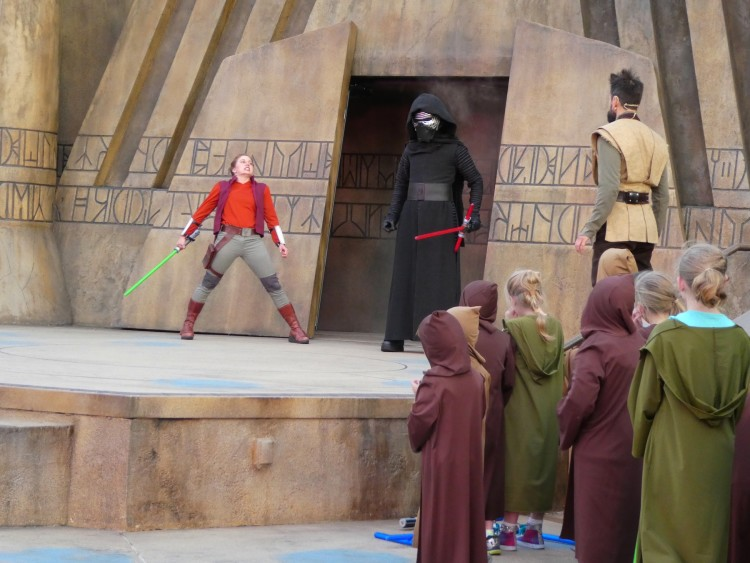 Younglings learn to resist the dark side at Disney's Hollywood Studio's Jedi Training