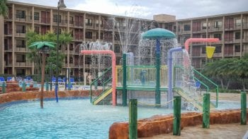 The Wyndham Lake Buena Vista has a pool area that works for both big and little kids.