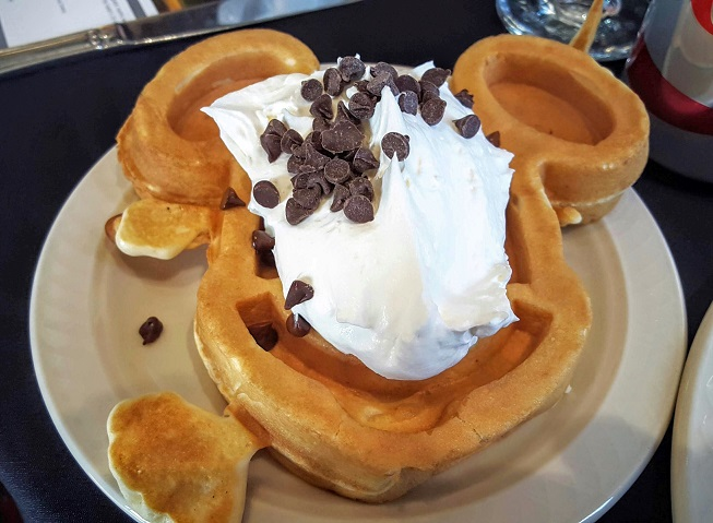 Mickey Mouse waffles are a must at Lakeview Restaurant.