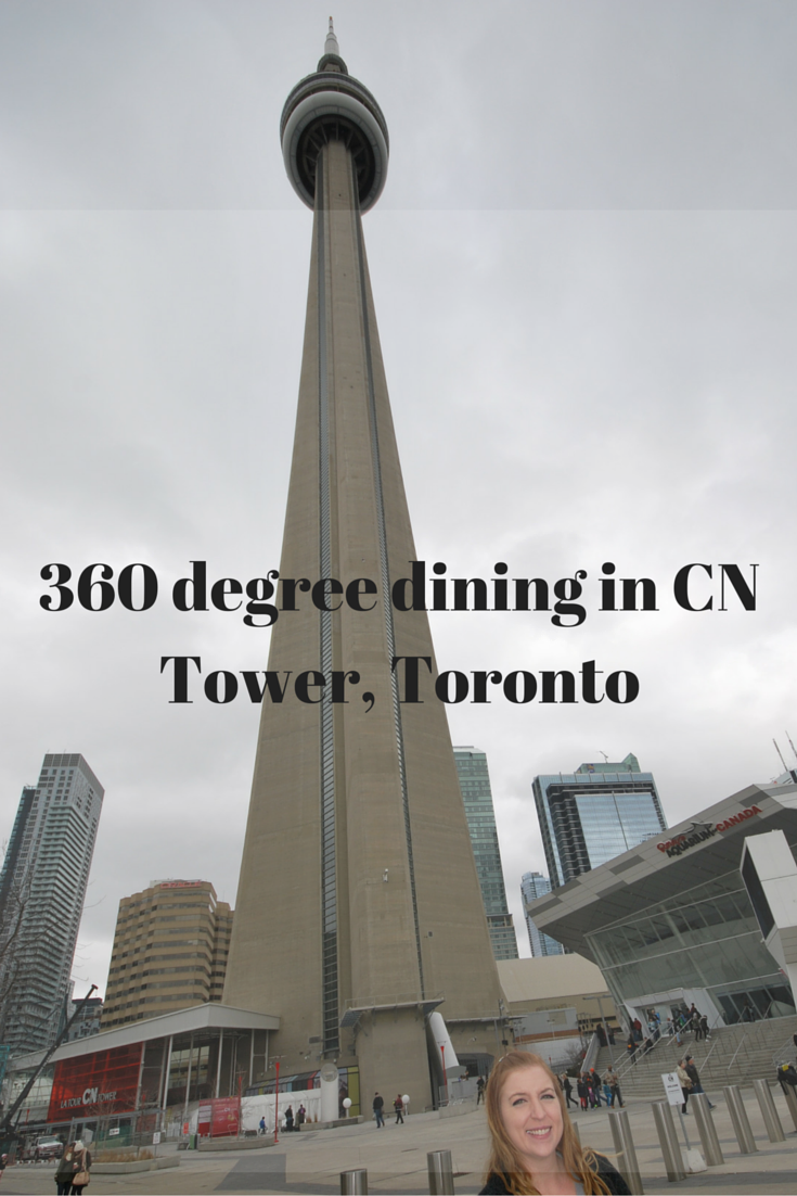 360 degree dining in CN Tower. Family Fun in Toronto