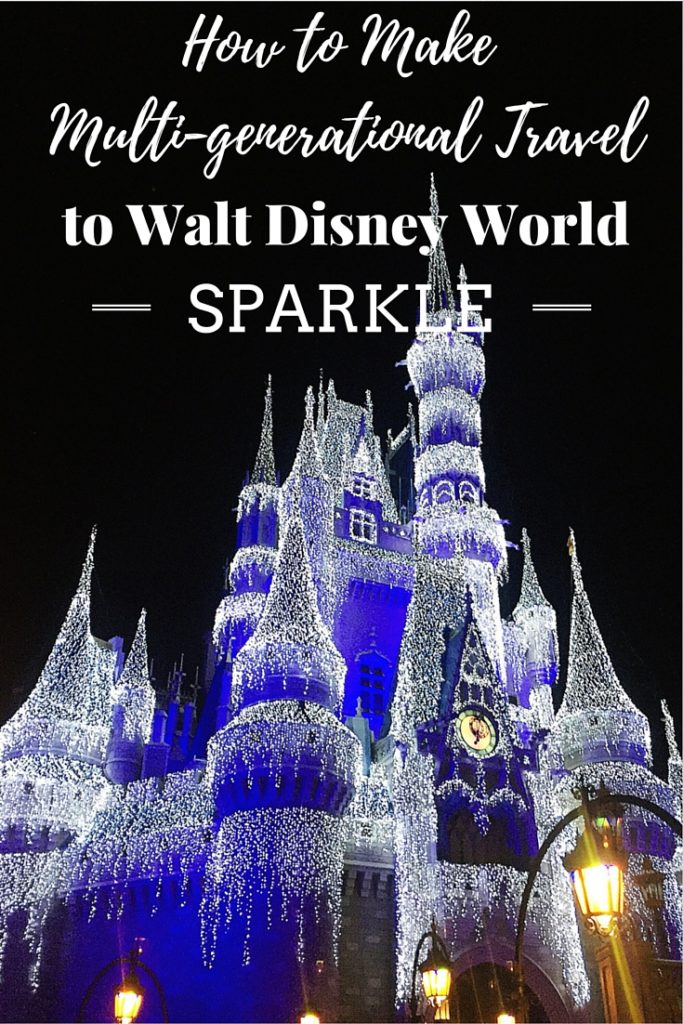 Multigenerational travel to Walt Disney World