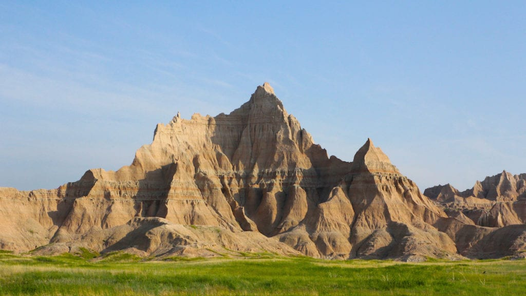 Badlands National Park is in the southeast corner of South Dakota, national parks for kids,