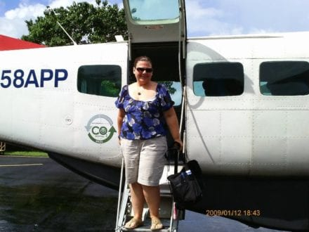 The tiny plane that travels to Contadora Island, Panama. Photo by Dia Adams