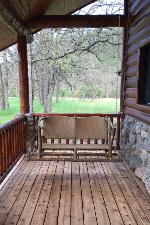 Custer State Park, Reunion Cabin, porch swing,