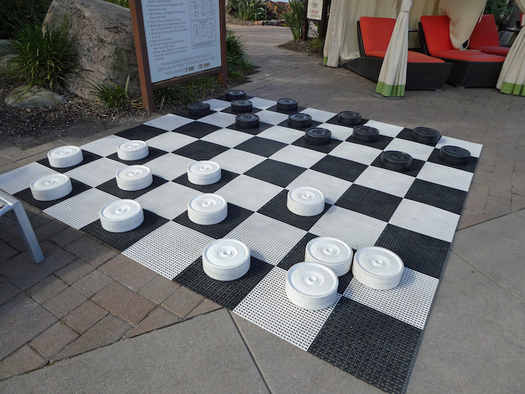 Giant Checkers at San Diego Hilton Photo credit: Karen Heffren / Desert TravelingMom