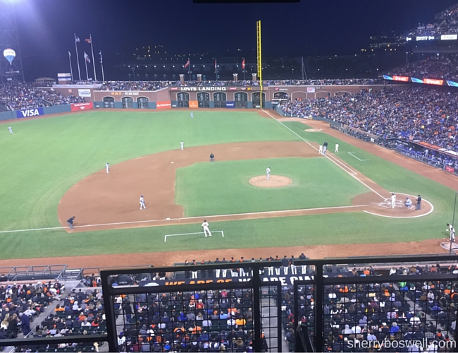 San Francisco in One Day: Giants game in the evening