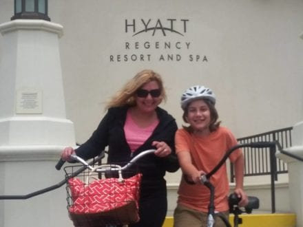 Bike riding is a popular activity in Hyatt Regency Huntington Beach Resort