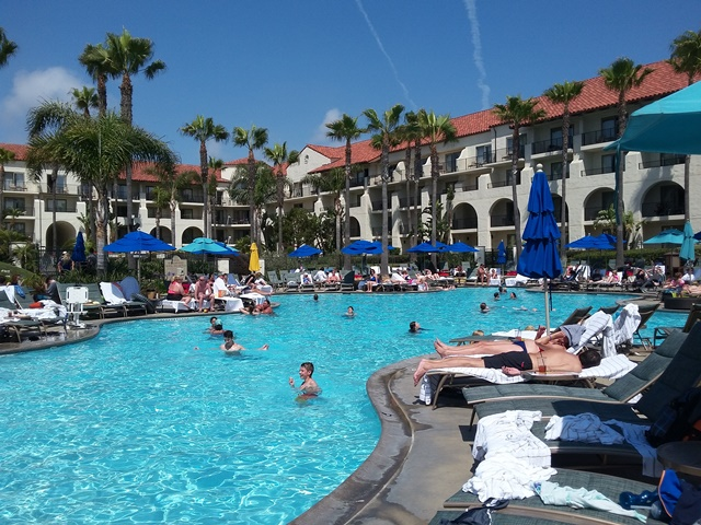 The main pool at the Hyatt Regency Huntington Beach Resort. Photo credit: Gwen Kleist, Healthy TravelingMom.