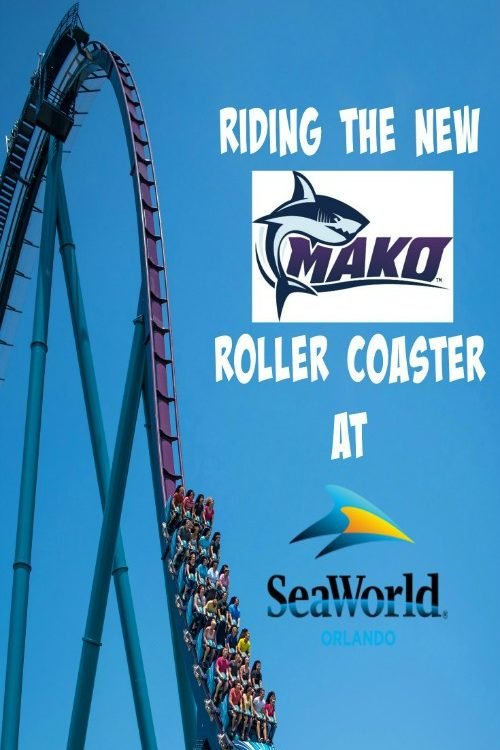 Riding the new Mako Roller Coaster at SeaWorld
